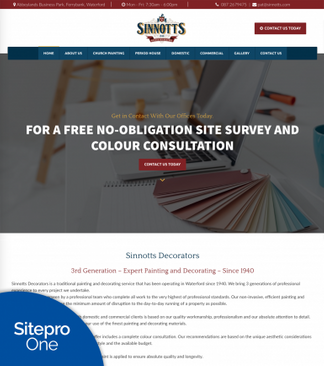 Sinnotts Customer site