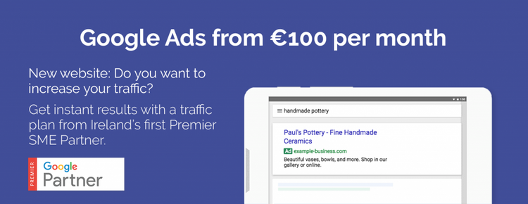 Google ads from €100 per month